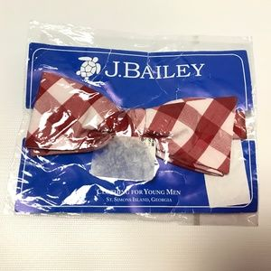 J.Bailey Mens Bow Tie Plaid Patterned One Size1